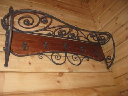 Изготовление кованой вешалки в частный дом г. Всеволожск