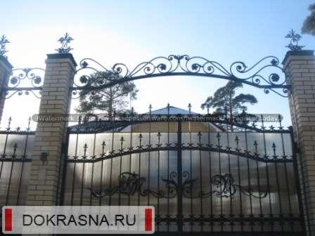 Кованые ворота в г. Всеволожске